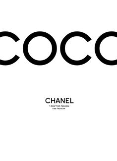 Chanel Art Print, coco chanel print, scandinavian wall art, monochrome wall art, minimalist wall art