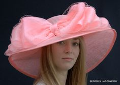huge hats | hat with huge taffeta bow covered with veiling spectacular picture hat ...