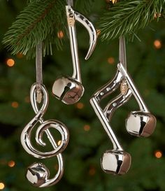 musical note ornaments