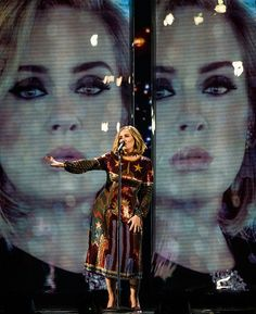 Adele performing 'When We Were Young' at the 'BRIT Awards 2016'