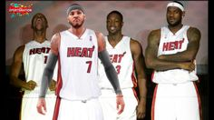 The big 4 Miami heat   Lebron  Bosh  Wade  Anthony