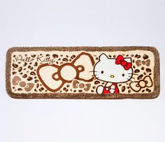 Hello Kitty Long Floor Mat: Leopard