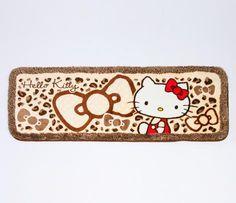 Hello Kitty Long Floor Mat: Leopard