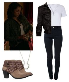Bonnie Bennett 7x13 - tvd / the vampire diaries by shadyannon on Polyvore featuring Glamorous, Lot78, STELLA McCARTNEY and Lucky