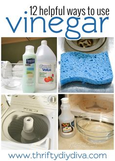 How To Clean Using Vinegar - 12 Helpful Cleaning Tips With Vinegar - add this to your cleaning hacks board! Frugal Living Tips Deep Cleaning Tips, House Cleaning Tips, Natural Cleaning Products, Cleaning Solutions, Spring Cleaning, Cleaning Hacks, Diy Hacks, Cleaning Supplies, Organizing Tips