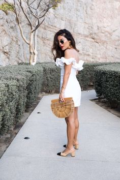 Sona Gasparian wears a little white dress that's perfect for summer while on vacation in Cabo Best Summer Dresses, Summer Outfits, Casual Outfits, Dress Stand, Dressed To The Nines, Little White Dresses, Summer Looks, Cabo, Womens Fashion