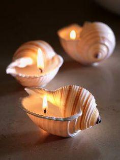 Una gran idea para la casa de playa!  velas 0f55b39067d