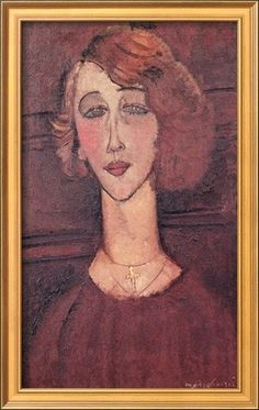 'Renee, 1917' by Amedeo Modigliani Framed Painting Print