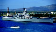 The Battleship USS Missouri docked at Pearl Harbor on Oahu has tours and regular events.