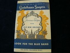 Vintage 1952 Godchaux Sugars Old New Orleans Famous Recipe Book Cookbook  A29