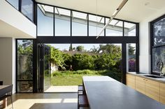 Image 3 of 15 from gallery of LBK / Ply Architecture. Photograph by Sam Noonan Architecture Images, Architecture Details, Interior Architecture, Angled Ceilings, Home Exterior Makeover, House Extensions, Indoor Outdoor Living, Glass House, Windows And Doors