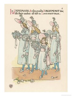 Flower Wedding Described by Two Wallflowers Young Bridesmaids in Forget-Me-Not Blue    by Walter Crane Item #: 1863924