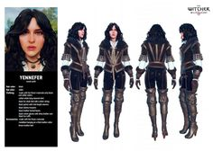 Custom made - Game The Witcher Wild Hunt - Yennefer of Vengerberg costume/ video game, witch, charmed,sorceress/CD Projekt RED Witcher 3 Yennefer, Yennefer Cosplay, Yennefer Of Vengerberg, Witcher Art, Witcher 3 Wild Hunt, The Witcher 3, Fantasy Armor, Medieval Fantasy, Witcher 3 Hairstyles