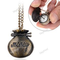 Pouch Design Quartz Pocket Watch Portable Watch Timepiece with Chain for Female Male WTH-197311