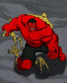 #Red #Hulk #Fan #Art. (Red Hulk colored) By: Anny-D. (THE * 3 * STÅR * ÅWARD OF: AW YEAH, IT'S MAJOR ÅWESOMENESS!!!™)[THANK Ü 4 PINNING!!!<·><]<©>ÅÅÅ+(OB4E)