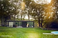 Philip Johnson Glass House  The house was designed from 1945-48 and completed in 1949.  New Canaan, CT.