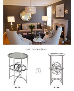 @carolinarustica Cortana Armilliary Table | $518 Vs @zgallerie Lafayette Table With Armillary | $150