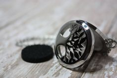 Essential Oil Diffuser Necklace-Aromatherapy Necklace- Stainless Steel Pendant- Stainless Steel Aromatherapy Necklace- Tree Necklace 30mm  Would you