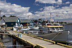 Fishing boats tied to the wharf line the harbour of the village of Rustico in Queen's country in Prince Edward Island, Canada. Water Pictures, Fishing Pictures, Water Pics, Deep Sea Fishing, Best Fishing, Small Fishing Boats, Hunter Boats, Trout Fishing Tips, Photos Of Prince