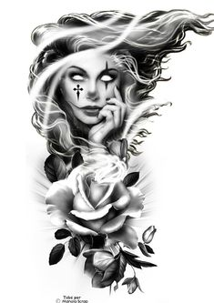 Clock Tattoo Design, Floral Tattoo Design, Tattoo Design Drawings, Tattoo Sleeve Designs, Tattoo Sketches, Tattoo Designs Men, Sleeve Tattoos, Lettrage Chicano, Chicano Tattoos