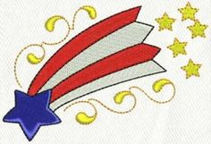 4th of July Celebrate - embroidery design 3 - 5 sizes