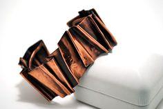 Fold formed copper bracelet by anidem