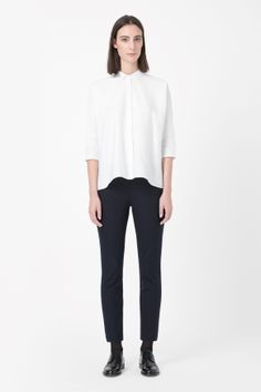 Cropped side-zip trousers