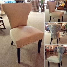 Accent Chair - Taupe/Slate Blue Accent Chair  - $558.95