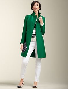 love the green with the white jeans