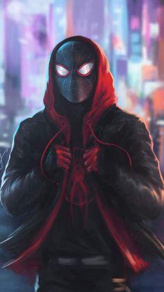 Miles Morales Spiderman in Hoodie iPhone Wallpaper - iPhone Wallpapers