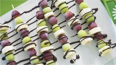 Eat Well Wednesday:  Grapes and bananas both freeze incredibly well, making these frosty fruit skewers a perfect summer treat!