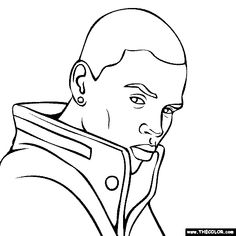 chris brown coloring pages 01