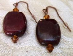 Dangle Earrings  Gemstone Earrings  Designer Earrings by AdrianBee, $14.99