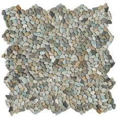 Solistone Micro Pebble Cayman Blue 12 in. x 12 in. x 6.35 mm Mesh-Mounted Mosaic Floor and Wall Tile (10 sq. ft. / case) 6026 at The Home Depot - Mobile