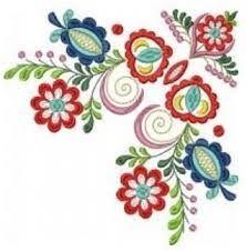 Image result for ľudový ornament Hand Painted Furniture, Flower Designs, Lana, Folk Art, Stitch, Sewing, Tableware, Flowers, Artwork