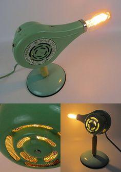 Blow Dryer Lamp ... how unique is that !