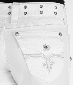 NWT Rock Revival White Cargo cropped pants size 30  #RockRevival #Cargo