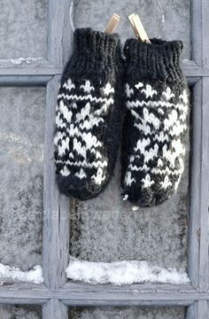 Warm woolen mittens...