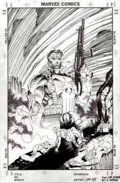 Jim Lee - Punisher: An eye for an eye Cover Comic Art