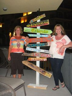 key west mile marker signs | Key West Style Distressed Wooden Mile Marker Directional Sign ...