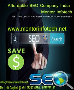 Call +91 9769769139 for seo company in India. Our seo experts are best Indian seo professionals, we offers affordable seo services in India. Web Site: www.mentorinfotech.net info@mentorinfotech.net Mr. Lalit Gaglani @ +91 9820216650 / 9769769139 #seo #company #india
