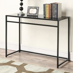 Black Metal And Glass Console Table httparghartscom