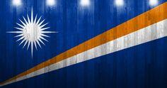 marshall islands flag on wood texture