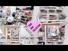 Makeup Revolution Golden Bar Palette along with Makeup Forever Aqua Brow. Makeup Shack Rose Gold Brush an Makeup Vanity Near Makeup Sites, Makeup List, Lots Of Makeup, Nice Makeup, Makeup Tutorials, Makeup Storage Hacks, Makeup Bag Organization, Clear Makeup Organizer, Makeup
