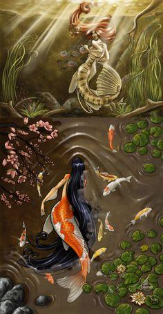 so... is this like a cat-fish-mermaid vs. a koi-fish-mermaid?!?!?!?!?