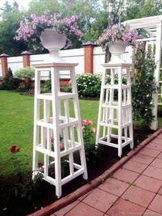 Garden Whimsy, Garden Deco, Garden Yard Ideas, Garden Projects, Garden Art, Diy Trellis, Garden Trellis, Perennial Garden Plans, Outside Plants