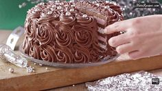 Chocolate Pearl Cake with Cherry Pie Filling