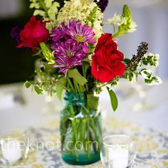 Colorful Wildflower Centerpieces