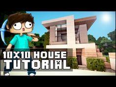 ▶ Minecraft House Tutorial: 10x10 Modern House - YouTube