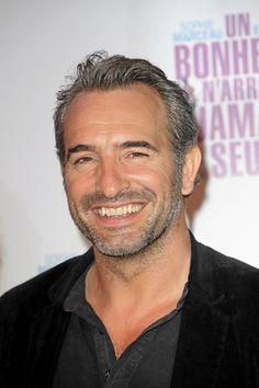 Jean Dujardin, Handsome Gray Haired Man.